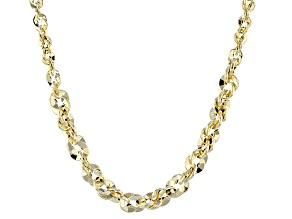 14k Yellow Gold Rope Link Necklace 20 inch