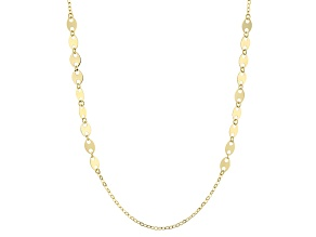 14k Yellow Gold Mariner Link Necklace 32 inch