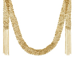 14k Yellow Gold Cable Link Scarf 39 inch