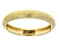 14k Yellow Gold Textured Band Ring