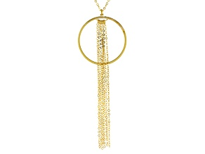 14k Yellow Gold Tassel Necklace 18 inch