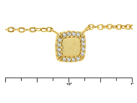 14k Yellow Gold Diamond Simulant Necklace 18 inch
