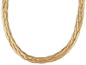 14k Yellow Gold Wheat Link Necklace 20 inch