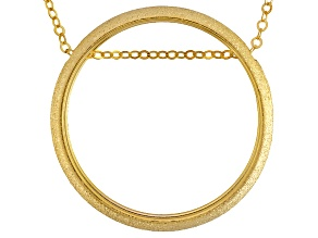 14k Yellow Gold Circle Necklace 18 inch