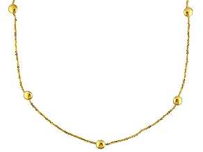 14k Yellow Gold Criss Cross Link Necklace 24 inch