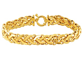 14k Yellow Gold Designer Link Bracelet 7.75 inch