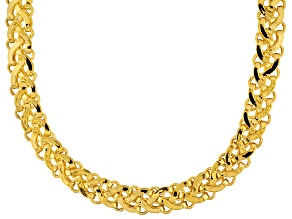14k Yellow Gold Designer Link Necklace 20 inch