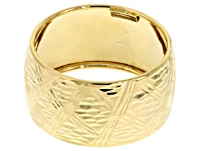 14k Yellow Gold Bold Band Ring