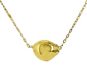 14k Yellow Gold Hollow Nugget Necklace 18 inch