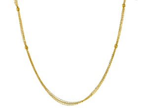 14k Yellow Gold Multistrand Necklace 24 inch