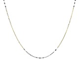 14k Yellow Gold With Rhodium Over 14k Yellow Gold Necklace 18 inch