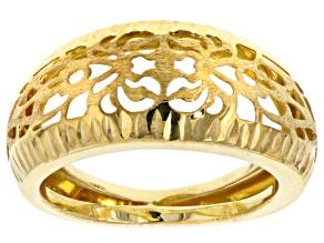 14k Yellow Gold Geometeric Ring