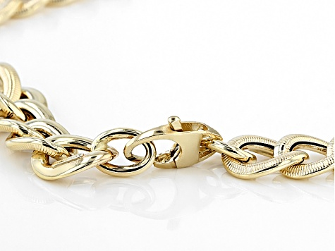 14k Yellow Gold Curb Link High Polished Necklace 20 inch