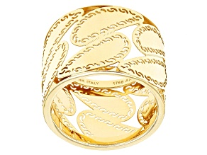14k Yellow Gold Hollow Cigar Band Ring