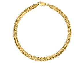 14k Yellow Gold Hollow Spiga Tapis Bracelet 7.5 inch