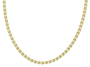 14k Yellow Gold Hollow Curb Chain Necklace 20 inch 3.0mm