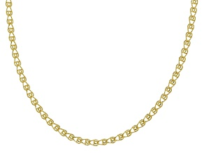 14k Yellow Gold Hollow Curb Chain Necklace 24 inch 3.0mm