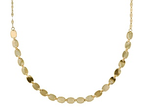 14k Yellow Gold Mirror Link Necklace 20 inch