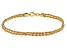 14k Yellow Gold Hollow Rope Bracelet 7.5 inch