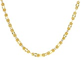 14k Yellow Gold Hollow Byzantine Necklace 20 inch