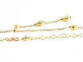 14k Yellow Gold Bead Drop Necklace 18 inch