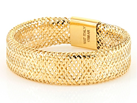 14k Yellow Gold Stretch Mesh Band Ring