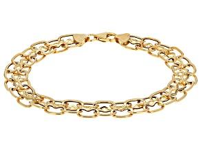 14k Yellow Gold Mosaico Italiano Bracelet 7.5 inch