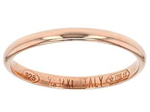 14k Rose Gold Hollow Mirror Band Ring.
