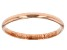 14k Rose Gold Hollow Mirror Band Ring.