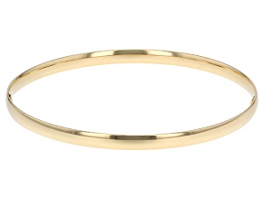 14k Yellow Gold Ribbon Bangle Bracelet With A Sterling Silver Core