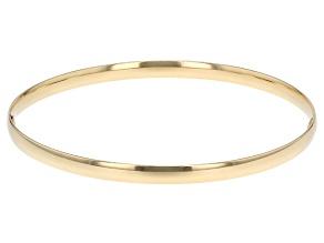 14k Yellow Gold Hollow Ribbon Bangle Bracelet 8 inch