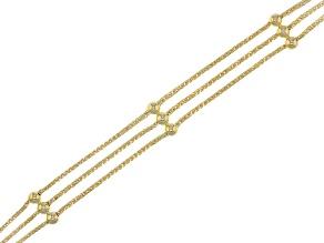 14k Yellow Gold Trittico Velvet 7 1/2 inch Bracelet
