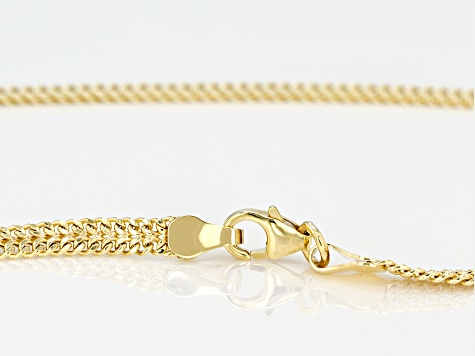 14k Yellow Gold infinity Tassel 18 inch Necklace