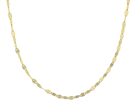 14k Yellow Gold Valentino 18 inch Chain Necklace