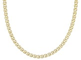 14k Yellow Gold Hollow Ritornello 24 inch Chain Necklace