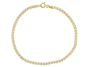 14k Yellow Gold Hollow Ritornella 7 1/2 inch Bracelet