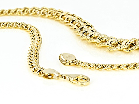 14k Yellow Gold Graduated Romanza 18 inch Necklace
