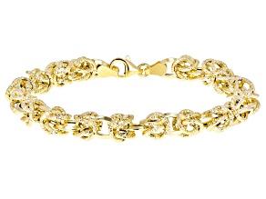 14k Yellow Gold Geo Byzantine 7 1/2 inch Bracelet