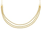 14k Yellow Gold Trittico Rope 20 inch Necklace