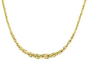 14k Yellow Gold Spirali Oro 20 inch Necklace