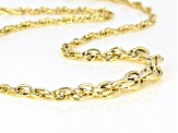 14k Yellow Gold Spirali Oro 20 inch Necklace