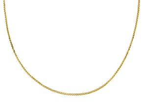 14k Yellow Gold Wheat 18 inch Chain Necklace