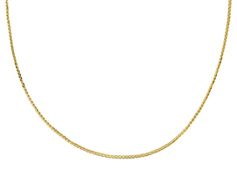 14k Yellow Gold Wheat 24 inch Chain Necklace