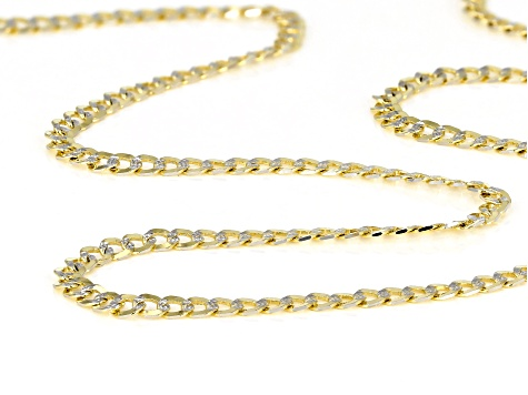14k Yellow Gold & Rhodium Over Yellow Gold Reverso Grumette 18 inch Chain Necklace