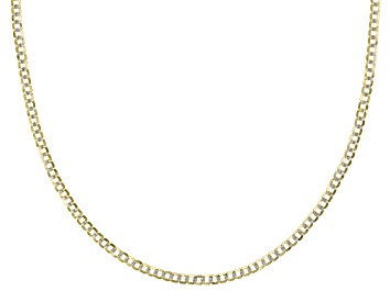 Picture of 14k Yellow Gold & Rhodium Over Yellow Gold Reverso Grumette 20 inch Chain Necklace