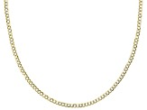 14k Yellow Gold & Rhodium Over Yellow Gold Reverso Grumette 20 inch Chain Necklace