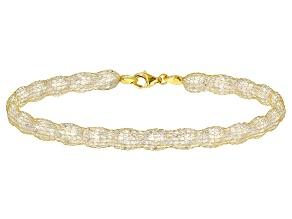 White Cubic Zirconia 14k Yellow Gold 7 1/2 inch Bracelet 31.91ctw