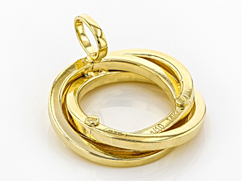Splendido Oro™ 14K Yellow Gold With Sterling Silver Core Circle Pendant