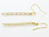Splendido Oro™ White Diamond Simulant 14K Yellow Gold Crochet Earrings