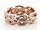 18k Yellow Rose Gold Over Bronze Byzantine Ring